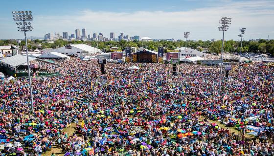New Orleans Jazz Fest Crowd