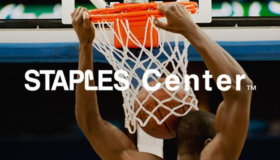 slam dunk at STAPLES Center