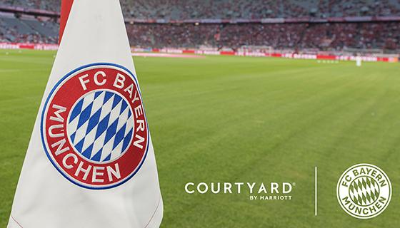 FC Bayern flag on field