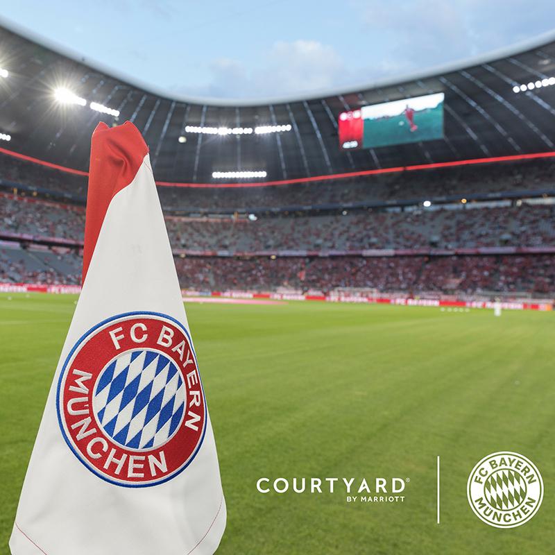 Bayern flag and stadium
