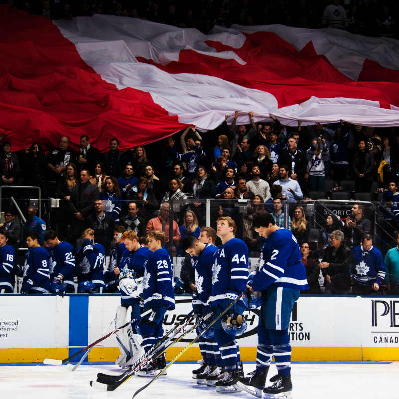 Thumbanil for GOAL! Watch the Toronto Maple Leafs this Season from PLATINUM Arena Seats + Tickets to the Hockey Hall of Fame