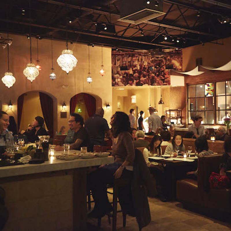 People enjoy Zahav restaurant