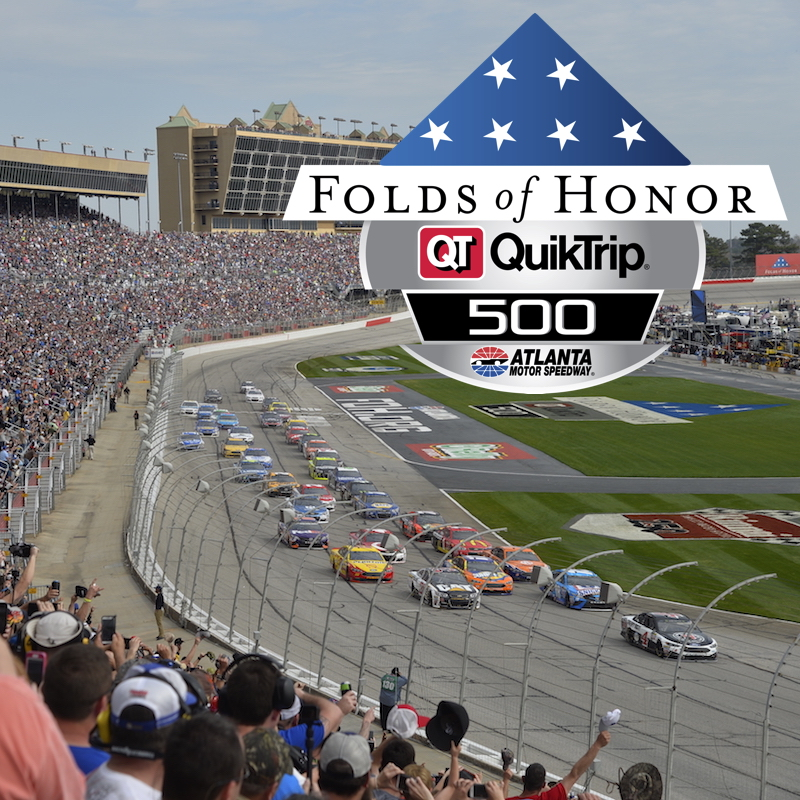 All Engines Go! Attend Folds of Honor QuikTrip 500 + Pace Car Ride & Photo with Winning Driver