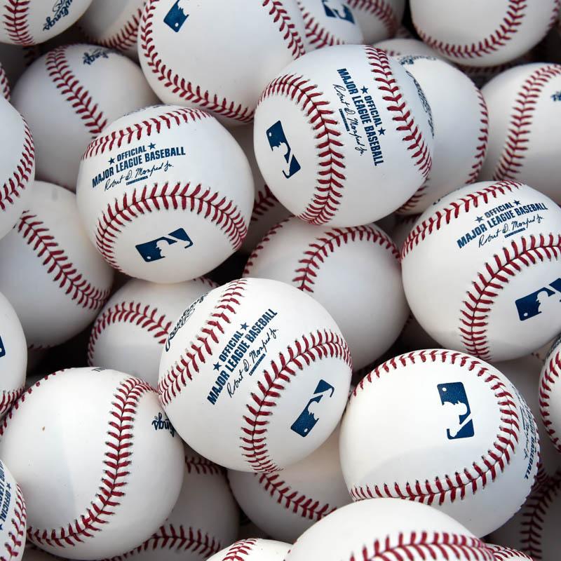 Pile of baseballs