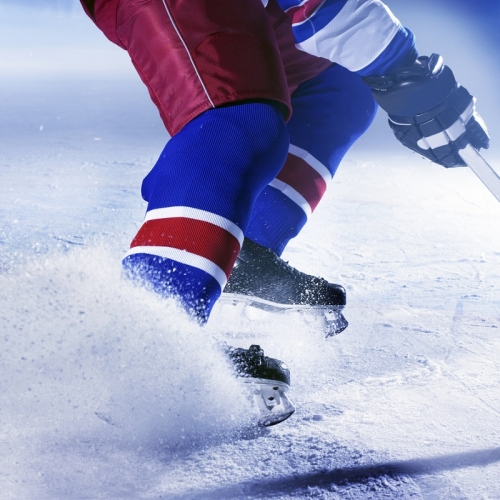 hockey player on ice