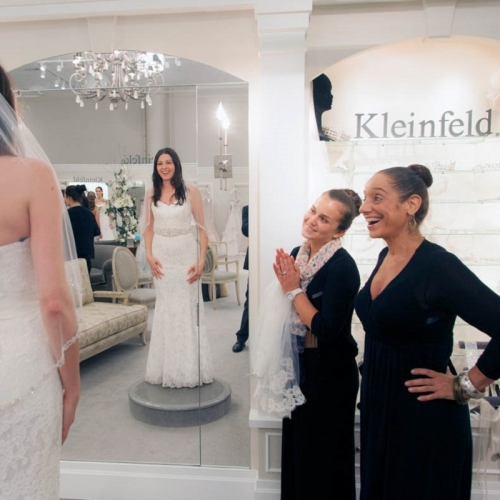 Kleinfield bride shopping